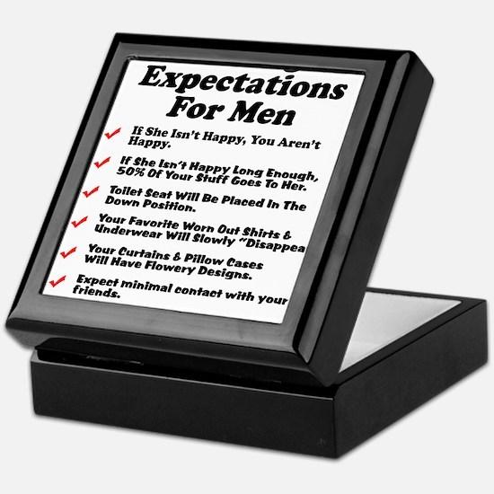 Marriage Expectations For Men Keepsake Box