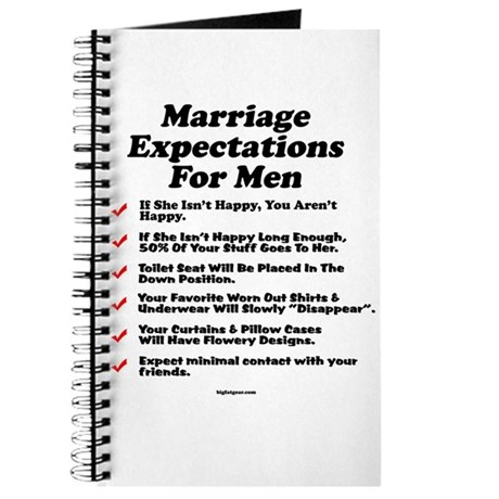 Marriage Expectations For Men Journal by bigfatgear