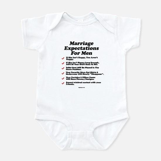 Marriage Expectations For Men Infant Bodysuit