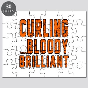 Curling Bloody Brilliant Sports Designs Puzzle