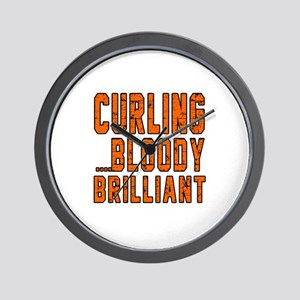 Curling Bloody Brilliant Sports Designs Wall Clock