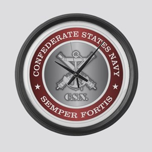 Confederate States Navy Large Wall Clock