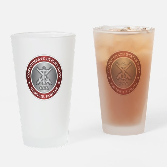 Confederate States Navy Drinking Glass