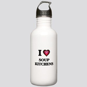 I love Soup Kitchens Stainless Water Bottle 1.0L