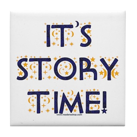Story Time-Night Sky Tile Coaster