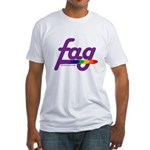 fag Fitted T-Shirt