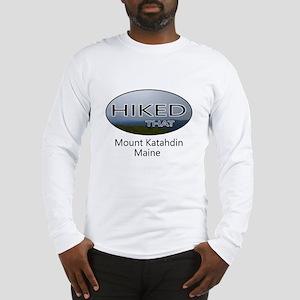 Hiking Mount Katahdin Long Sleeve T-Shirt