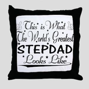 World's Greatest Stepdad... Throw Pillow