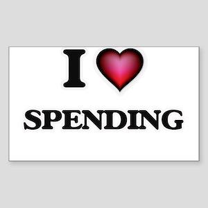 I love Spending Sticker