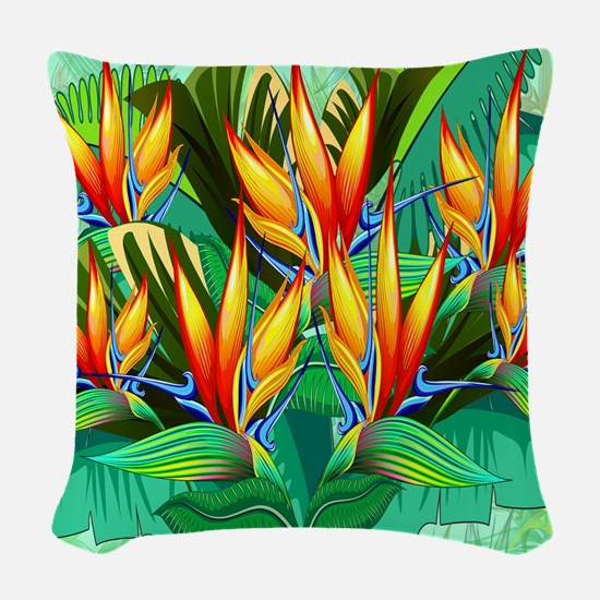Bird of Paradise Flower Exotic Nature Woven Throw