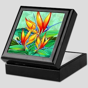 Bird of Paradise Flower Exotic Nature Keepsake Box