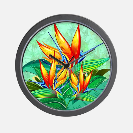Bird of Paradise Flower Exotic Nature Wall Clock