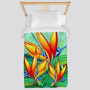 Bird of Paradise Flower Exotic Nature Twin Duvet