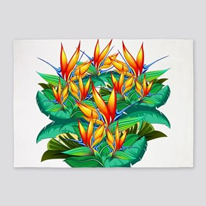 Bird of Paradise Flower Exotic Nature 5'x7'Area Ru