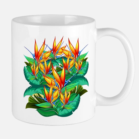 Bird of Paradise Flower Exotic Nature Mugs