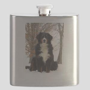Berner in Snow Flask