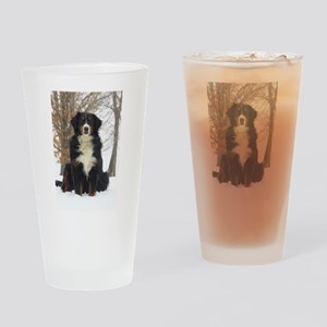 Berner in Snow Drinking Glass
