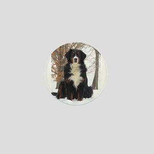 Berner in Snow Mini Button