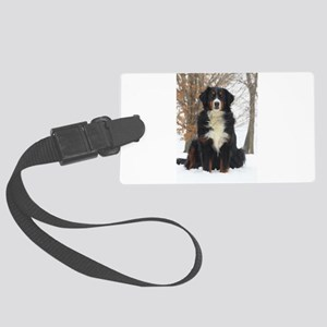 Berner in Snow Luggage Tag