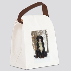 Berner in Snow Canvas Lunch Bag