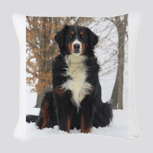 Berner in Snow Woven Throw Pillow