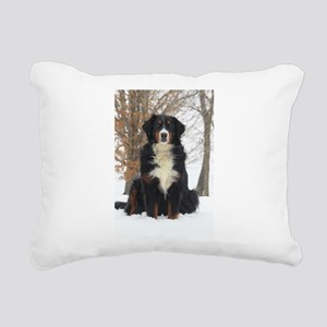 Berner in Snow Rectangular Canvas Pillow