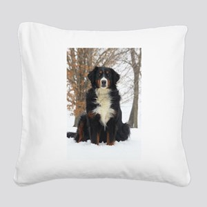 Berner in Snow Square Canvas Pillow
