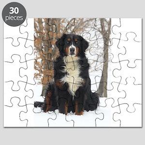 Berner in Snow Puzzle