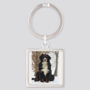 Berner in Snow Keychains