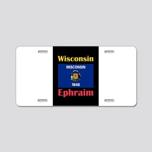 Ephraim Wisconsin Aluminum License Plate