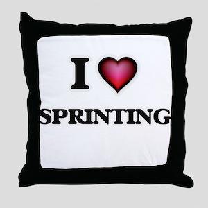 I love Sprinting Throw Pillow