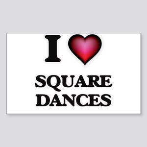 I love Square Dances Sticker