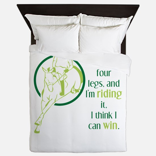 if a horse has four legs Queen Duvet