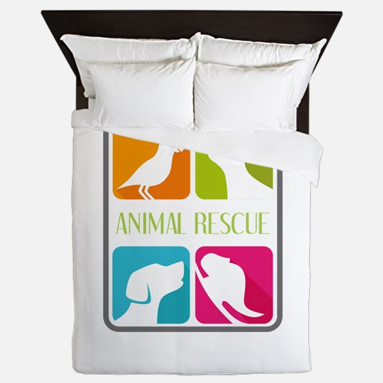 animal resue Queen Duvet