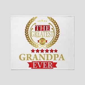 THE GREATEST GRANDPA EVER Throw Blanket