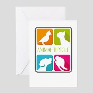 animal resue Greeting Cards