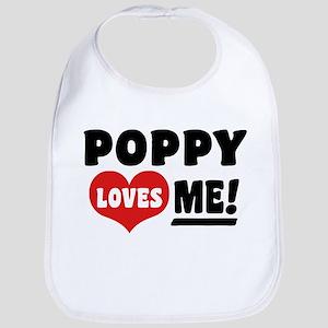 Poppy Loves Me Bib