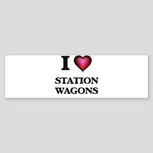 I love Station Wagons Bumper Sticker