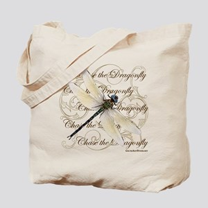 White Dragonfy Collage Tote Bag