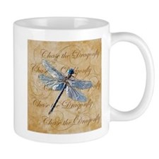 Blue Dragonfly Collage Mugs