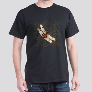 White & Orange Dragonfly Collage T-Shirt