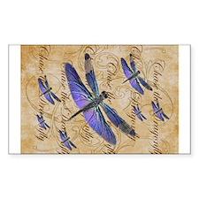 Purple Dragonfly Collage Sticker