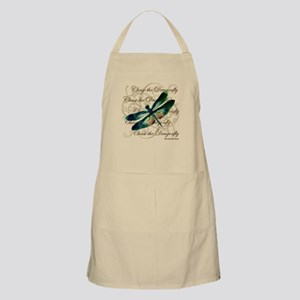 Green & Pink Dragonfly Collage Apron