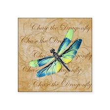 Blue & Green Dragonfly Collage Sticker