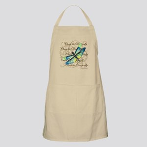 Blue & Green Dragonfly Collage Apron