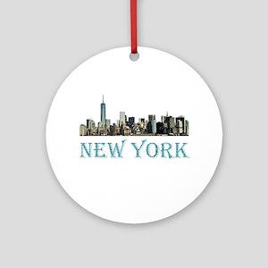 New York City Round Ornament