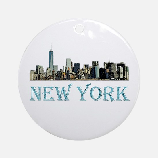 New York City Round Ornament