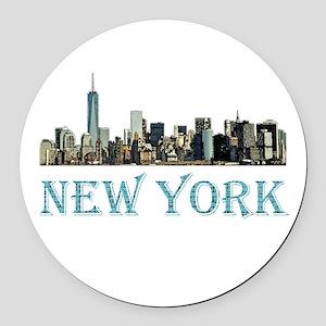 New York City Round Car Magnet