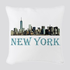 New York City Woven Throw Pillow