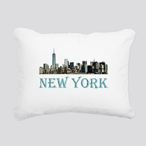 New York City Rectangular Canvas Pillow